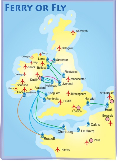 Train Travel In Ireland Map.Travel Info Camping Ireland
