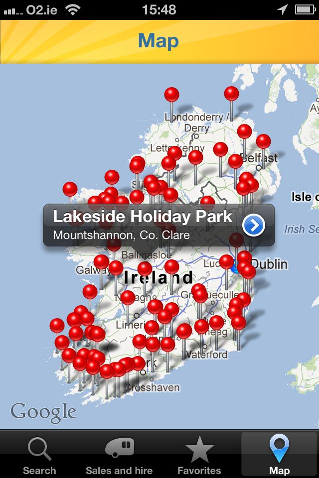 Camping Ireland App